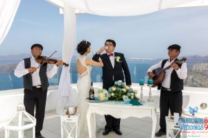 Sun  Zhang Wedding By Santorini8 Weddings9 Dragons Group 10