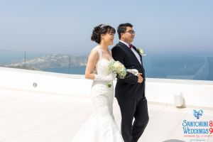 Sun  Zhang Wedding By Santorini8 Weddings9 Dragons Group 2