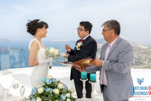 Sun  Zhang Wedding By Santorini8 Weddings9 Dragons Group 3
