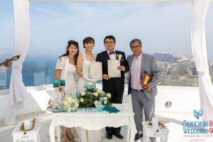 Sun  Zhang Wedding By Santorini8 Weddings9 Dragons Group 8