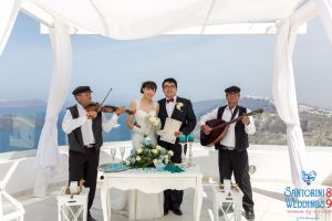 Sun  Zhang Wedding By Santorini8 Weddings9 Dragons Group 9